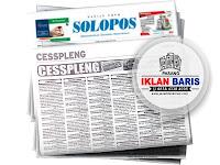 pasang iklan baris di koran SOLOPOS