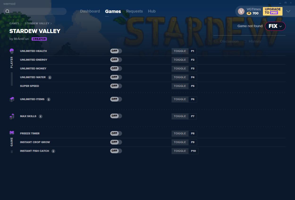 Stardew Valley: Trainer (+10) from 01/16/2021 [WeMod]
