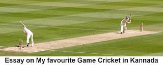 ಕನ್ನಡ ಕ್ರಿಕೆಟ್ ಪ್ರಬಂಧ Essay on My favourite Game Cricket in Kannada Language