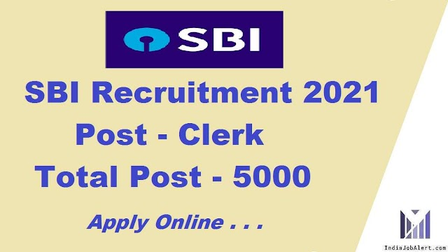 SBI Clerk Online form 2021
