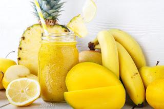 Yellow fresh foods