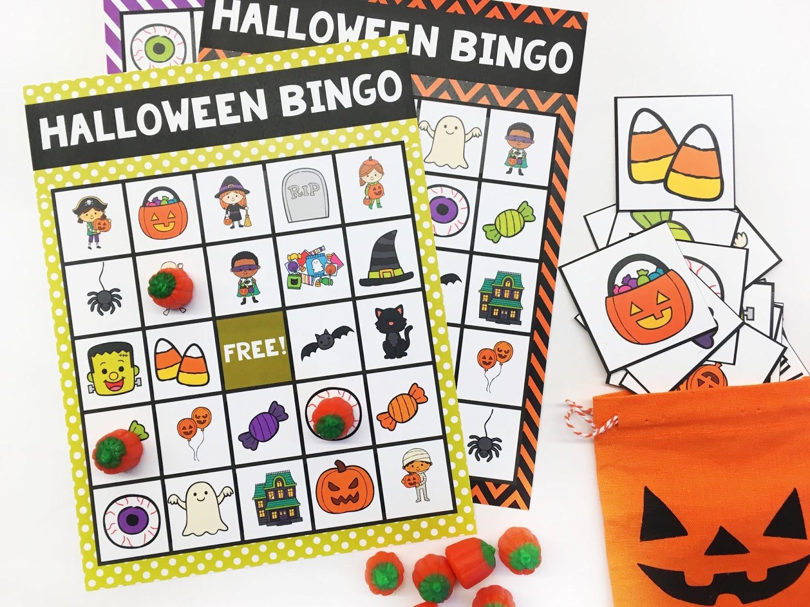 Halloween Bingo Classroom Halloween Party For Kids