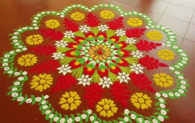 Diwali Images with Rangoli, rangoli photos