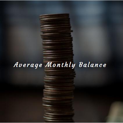 Little savings - Average monthly balance