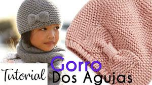 Cómo Tejer Gorro Básico con Dos Agujas para Bebés y Niños | 2 Tutoriales