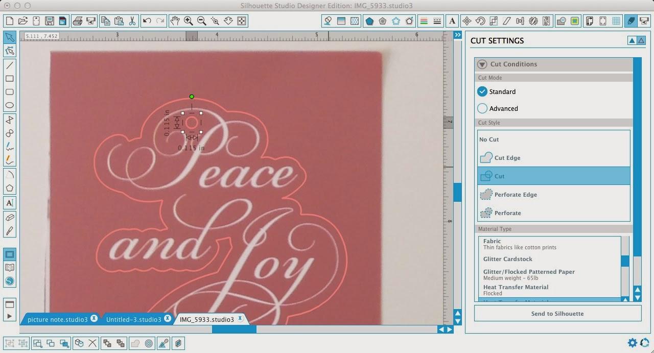Silhouette Pixscan, Silhoeutte tutorial, Pixscan tutorial, Silhouette Studio, draw a circle