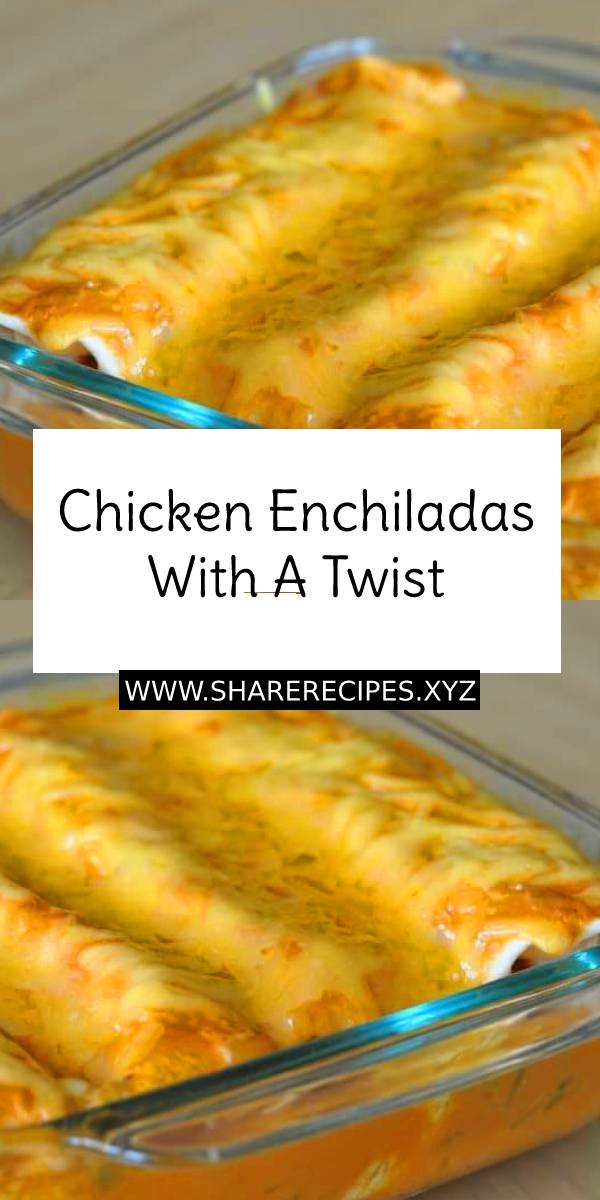 Chicken Enchiladas with a twist - Main Dish, Mexican, Chicken, Dinner Recipe #dinnerrecipe #chicken #chickenrecipe #easychickenrecipe #easydinnerrecipe #enchiladas #maindish #dish #mexicanfood #mexicanrecipe