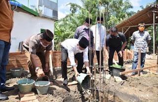 Bupati Batu Bara Meletakkan Batu Pertama Pembangunan Masjid An-Nur