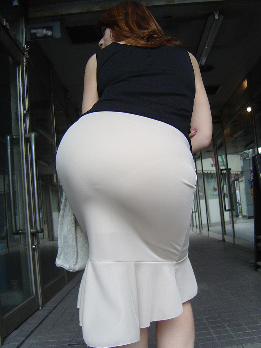 Dress upskirt tight ass