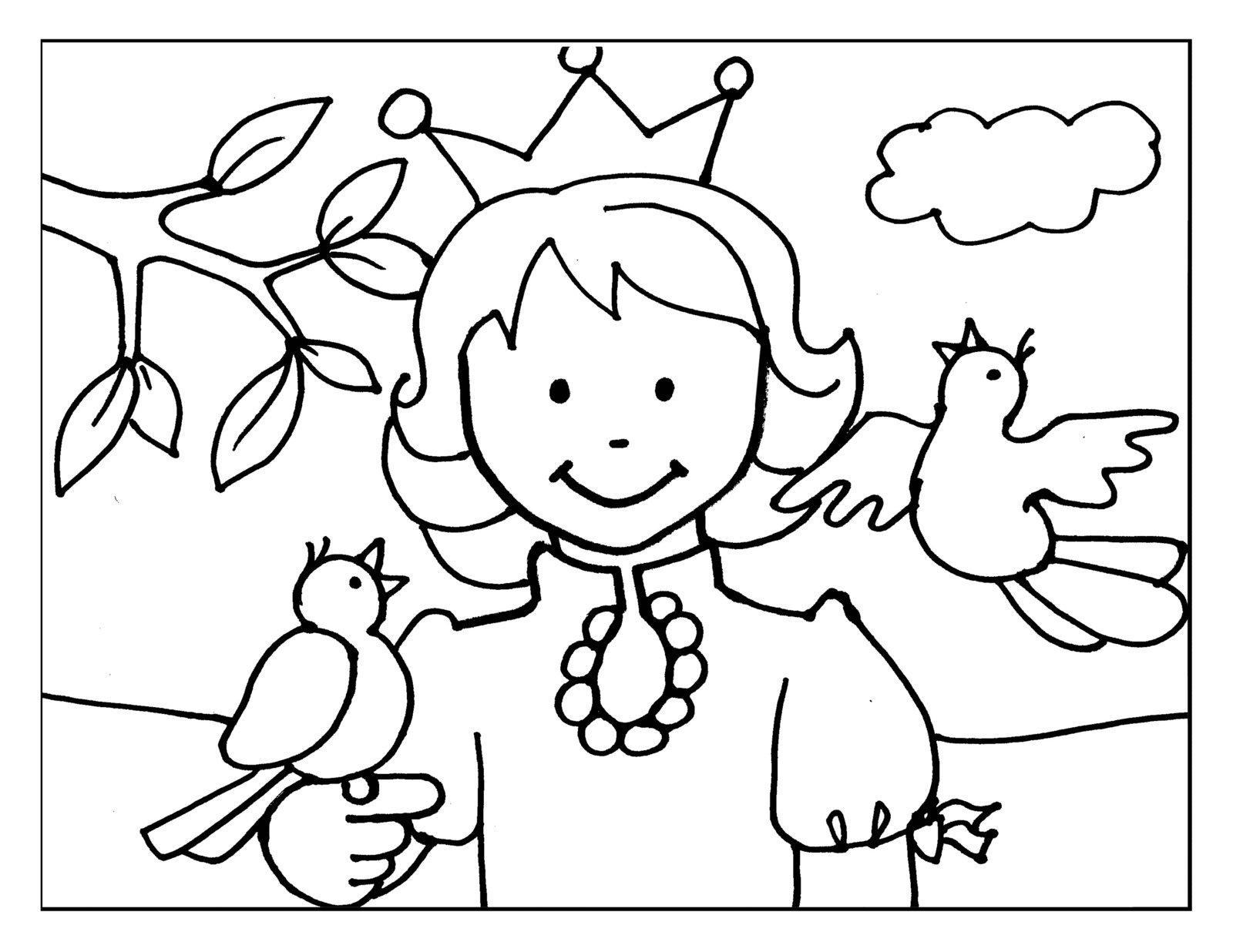 Dibujos Para Colorear De Las Princesas Disney: Las Princesas Para Colorear: Princesas Bebes Para Pintar