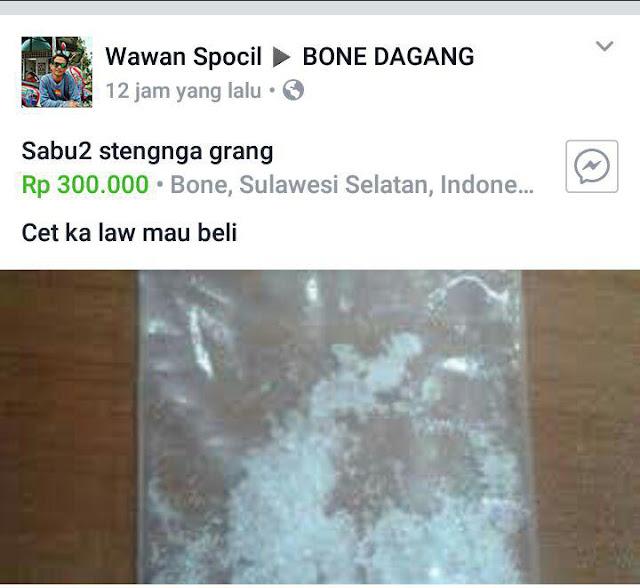 Viral, Akun FB Ini 'Jualan' Narkoba Lewat Medsos