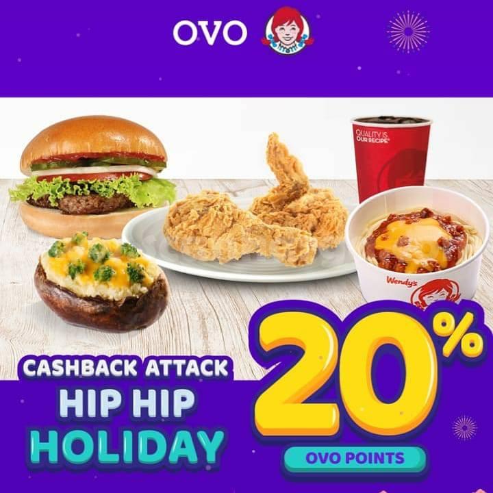 WENDYS Promo CASHBACK 20% bayar pakai OVO