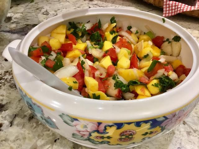 mango peach salad