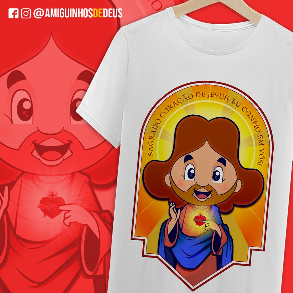 camisa sagrado coração de jesus