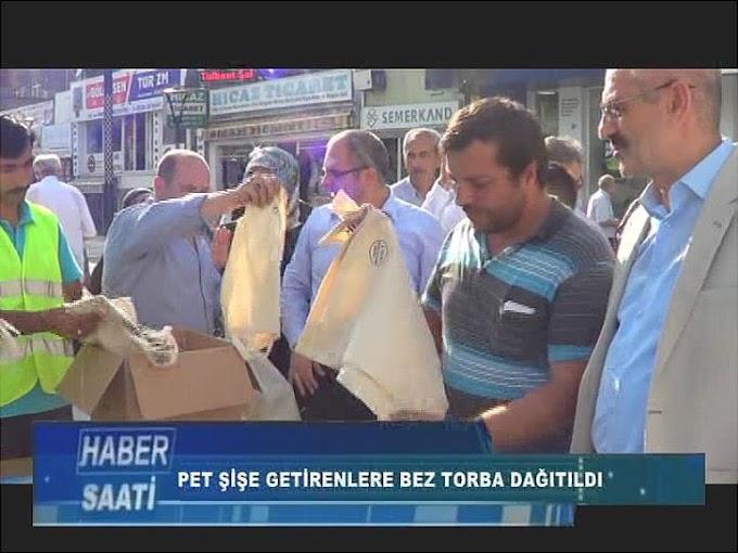 TURHAL'DA VATANDAŞLARA BEZ TORBA DAĞITILDI