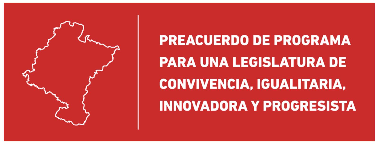 Preacuerdo de programa Navarra 2019-2023