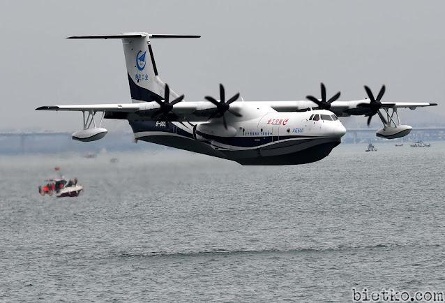 Thủy phi cơ AG600 bay thử trên biển