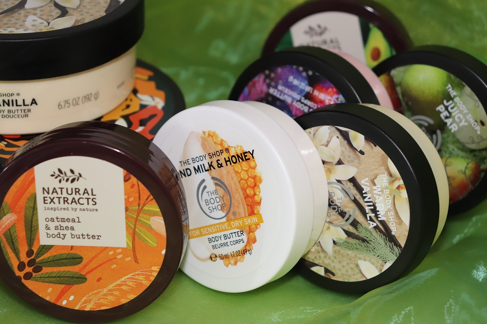 Body Butter Craze The Body Shop Warm Vanilla Pumpkin Juicy Pear Rich Plum Almond Milk & Honey Natural extracts Inspired by nature Tesco Avocado & Green Tea Body Butter and Oatmeal and Shea Body Butter Review London Blogger