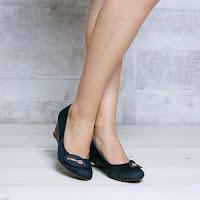 Pantofi dama Chioma albastri cu platforma ortopedica • modlet