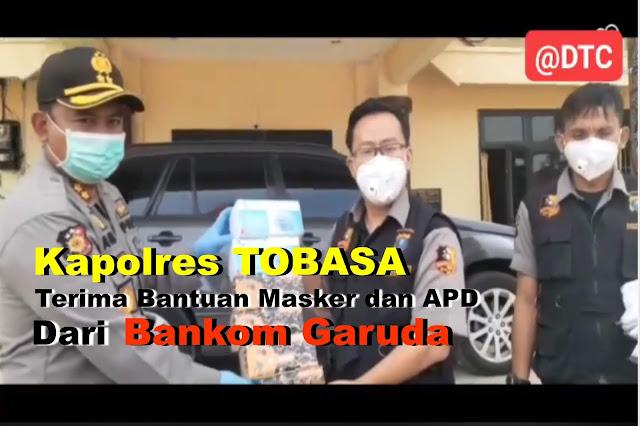 Kapolres Tobasa AKBP. Agus Waluyo Terima Bantuan APD dari Bankom Garuda