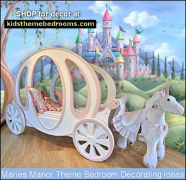carriage bed unicorn decor cinderella pumpkin bed castle beds princess bedroom furniture girls bed