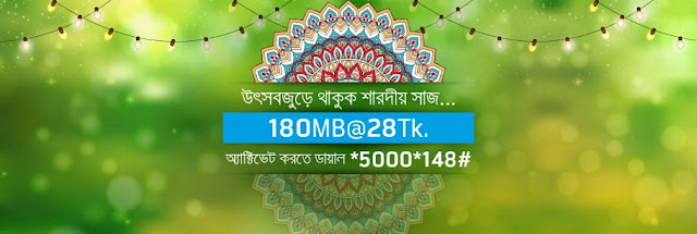 Grameenphone 180 MB internet data at Tk.28 offer