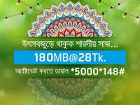 Grameenphone 180 MB internet data at Tk.28 offer