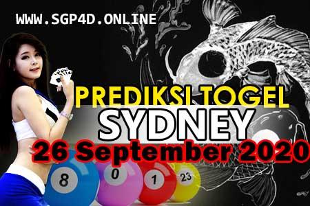 Prediksi Togel Sydney 26 September 2020