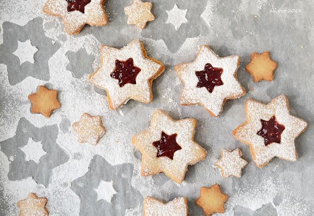 Linzer cookies Martha Stewart