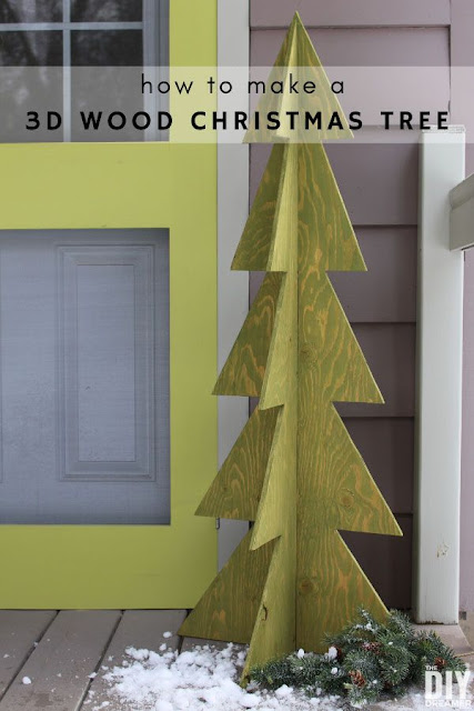 How to make a 3D wooden Christmas tree.