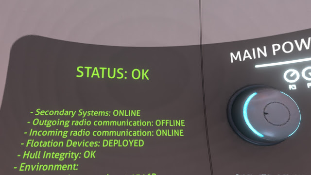 Subnautica status ok systems online radio communication offline