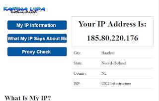 Melihat IP Dynamic dengan cara online
