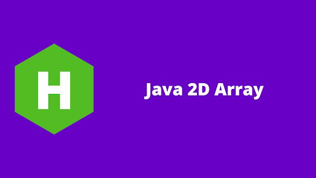 HackerRank Java 2D Array problem solution