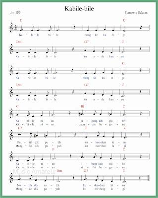 not balok lagu kabile bile