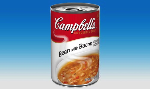 can of Campbell's Bean with Bacon soup