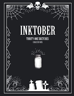 Image of front cover of Inktober sketchbook from Amazon.com
