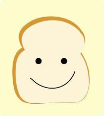 cute cartoon slice of bread
