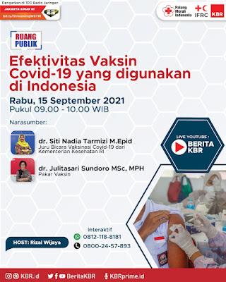 diskusi tentang vaksin covid 19 bersama KBR dan PMI