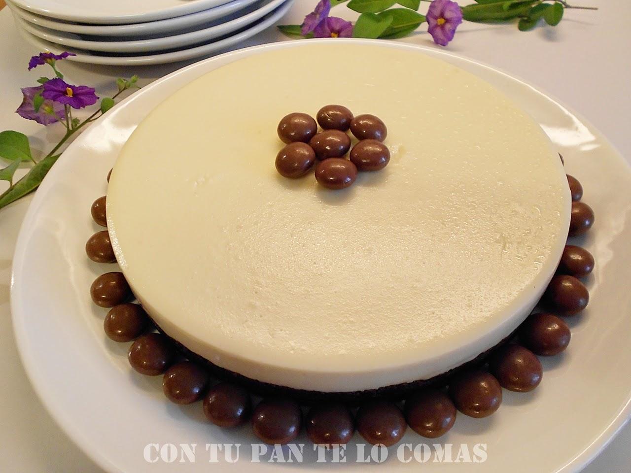 Con tu pan te lo comas tarta de chocolate blanco - Postres originales y faciles de hacer ...