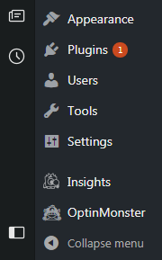 WordPress dashboard icons
