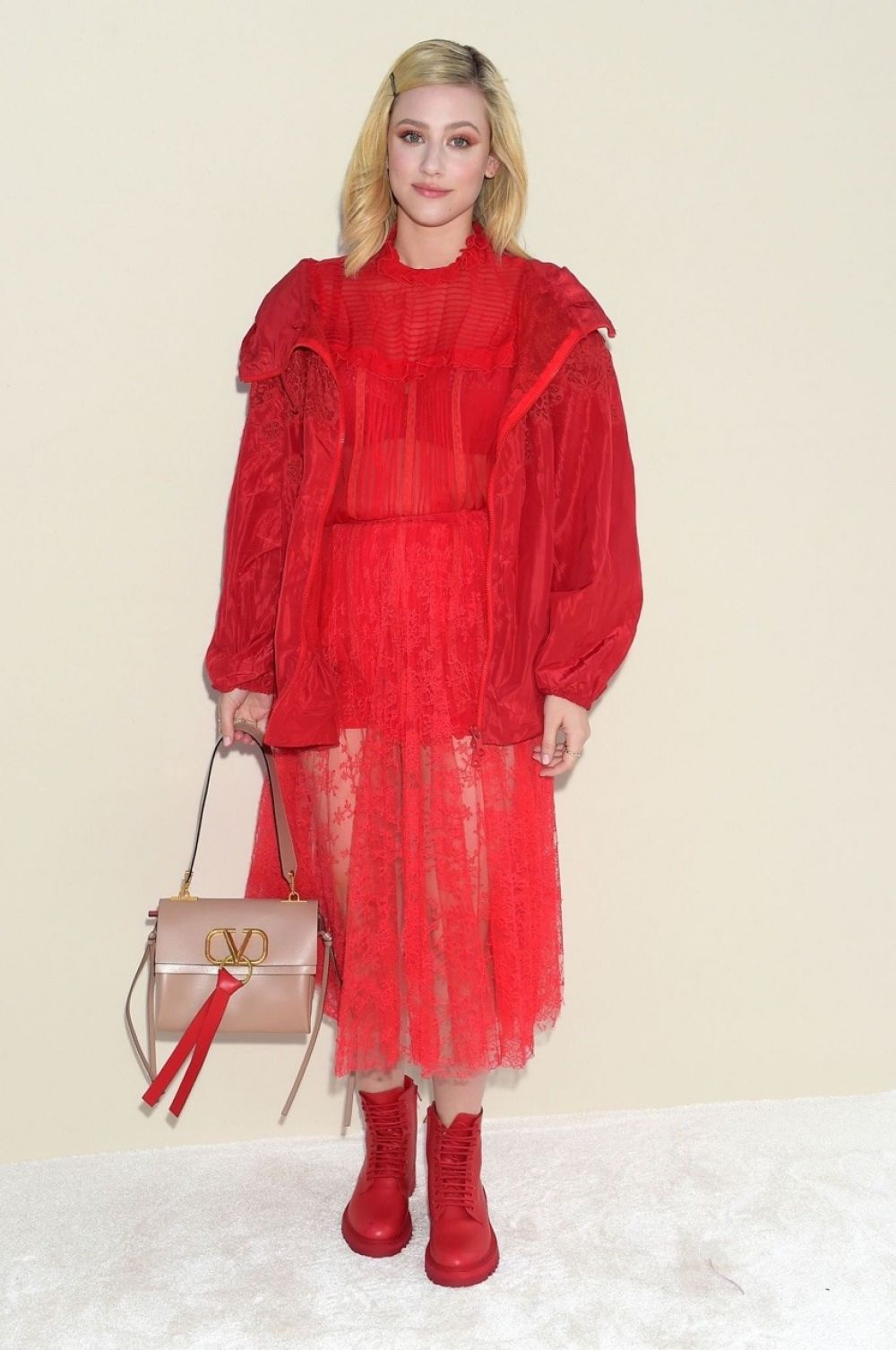 Lili Reinhart at Valentino Show at Paris Fashion Week - 03/02/2019