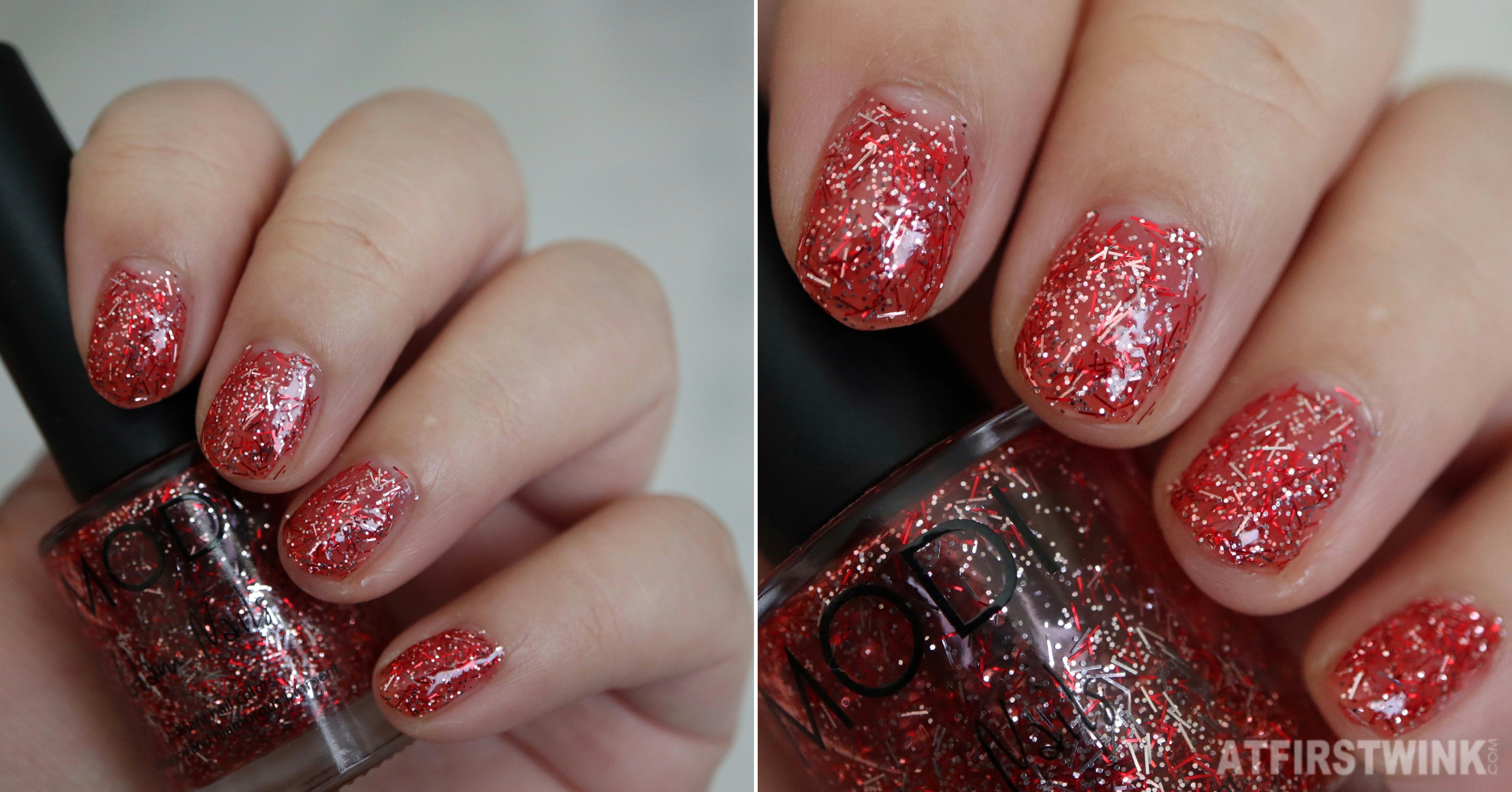 Modi glam nails nail polish 36 Hong Kong town 홍콩타운