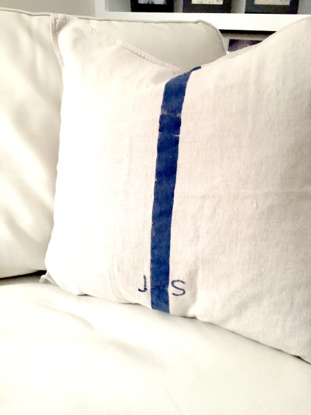 How to DIY Grain Sack Pillow Covers