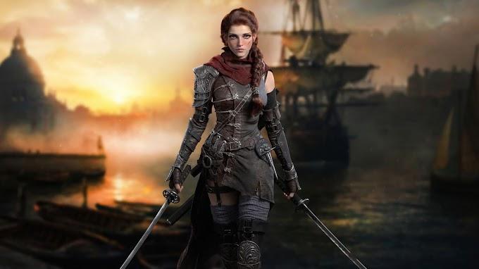Mulher Pirata Papel de Parede