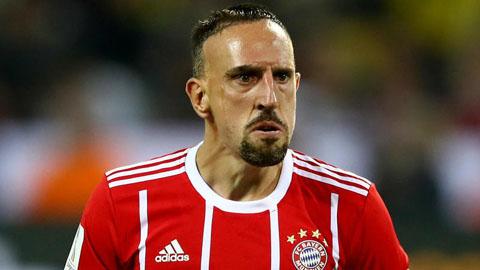 Cầu thủ Franck Ribery trong màu áo của Bayern
