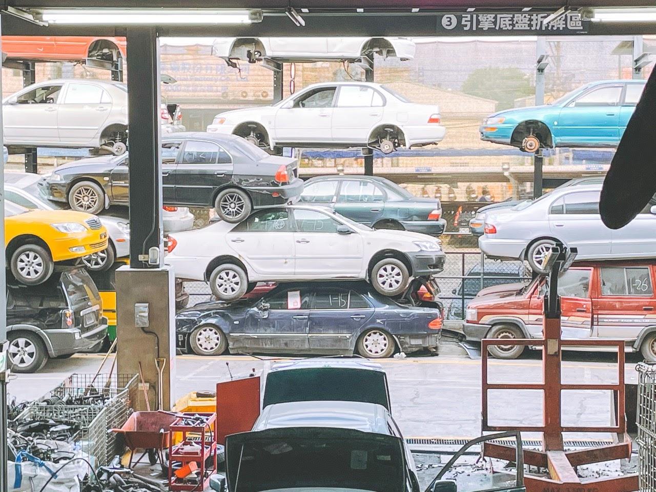 [台南][永康]Zero Zero 拆車夢工廠|走入魔幻星球的科幻場景|報廢車環保拆解再利用、寓教於樂親子景點|台南拍照打卡景點推薦