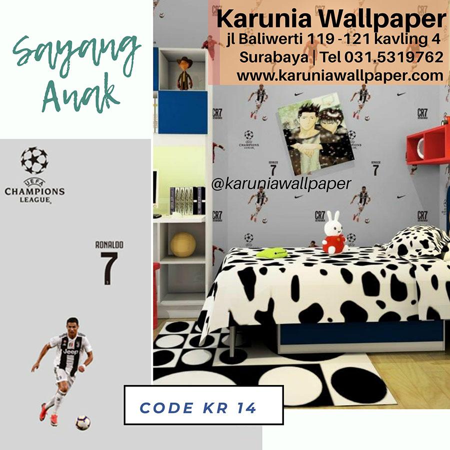 wallpaper dinding kamar anak sepak bola