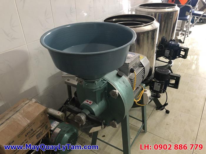 Máy xay đậu nành công nghiệp, máy nghiền bột ướt có tay quay điều chỉnh độ mịn của bột