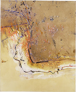 Dry Creek Bed Werribee Gorge I - Fred Williams painting