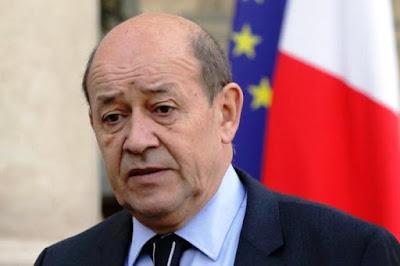 وزير الخارجية الفرنسى جان ايف لودريان